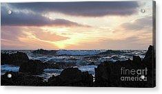 Sunset Waves, Asilomar Beach, Pacific Grove, California #30431 Acrylic Print