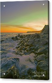 Sunset Waves Acrylic Print by Todd Breitling
