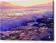 Sunset, West Oahu Acrylic Print