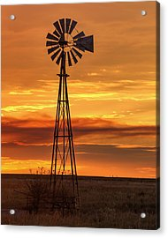 Sunset Windmill 01 Acrylic Print