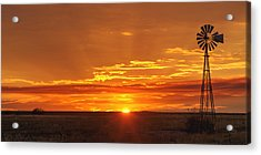 Sunset Windmill 02 Acrylic Print by Rob Graham