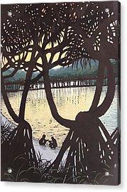 Sunset Windows Acrylic Print by Serena Valerie Dolinska