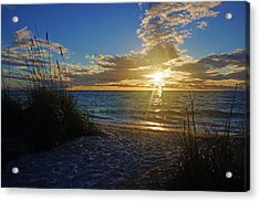 Sunset Windsurfer Acrylic Print