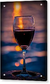 Acrylic Print featuring the photograph Sunset Wine by Michaela Preston