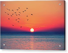 Sunset Wishes Acrylic Print