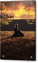 Sunset Acrylic Print by Cambion Art