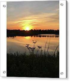 Amber Sunset By The Lake Acrylic Print