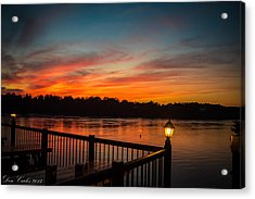 Sunsets In Lewiston Acrylic Print by Carlos Ruiz