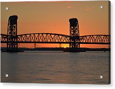 Sunset's Last Light Bridges Over Jamaica Bay Acrylic Print