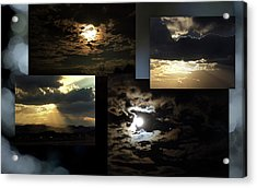 Acrylic Print featuring the photograph Sunsets Moons Rise by Irma BACKELANT GALLERIES