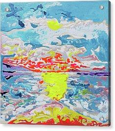 Sunsetting Big Beach Acrylic Print by Joseph Demaree
