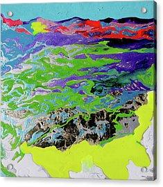 Sunsetting Haleakala Acrylic Print by Joseph Demaree