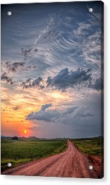 Acrylic Print featuring the photograph Sunshine And Storm Clouds by Fiskr Larsen