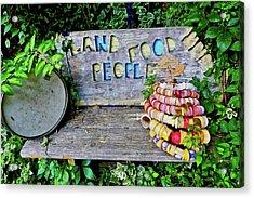 Sunshine Bench Acrylic Print by Joan Reese