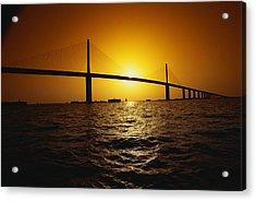 Sunshine Bridge St Petersburg Fl Acrylic Print by Panoramic Images