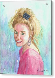 Acrylic Print featuring the painting Sunshine Girl by Jeanne Kay Juhos