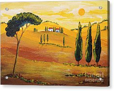 Sunshine In Tuscany In The Morning Acrylic Print