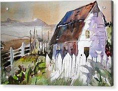 Sunshine On A Fence Acrylic Print