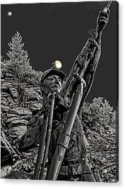 Sunshine Silver Mine Memorial - Kellogg Idaho Acrylic Print by Daniel Hagerman