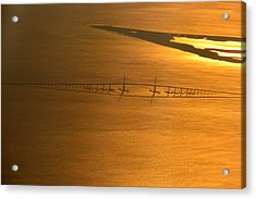 Sunshine Skyway Bridge At Sunset Acrylic Print