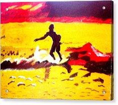 Sunsplashed Surf Acrylic Print