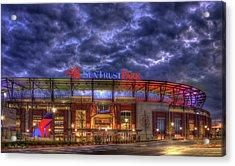 Suntrust Park Unfinished Atlanta Braves Baseball Art Acrylic Print