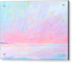 Acrylic Print featuring the painting Sunup Over Kailua by Angela Treat Lyon