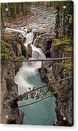 Acrylic Print featuring the photograph Sunwapta Falls by John Gilbert