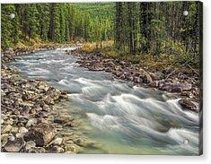 Acrylic Print featuring the photograph Sunwapta River 2005 01 by Jim Dollar
