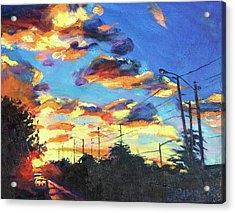 Sunward Acrylic Print by Bonnie Lambert