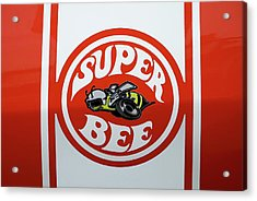Acrylic Print featuring the photograph Super Bee Emblem by Mike McGlothlen