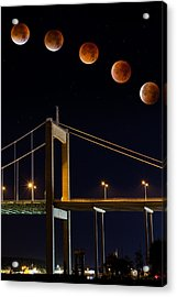 Super Blood Moon Acrylic Print by Arvid Bjorkqvist