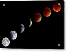 Super Blood Moon Eclipse Acrylic Print