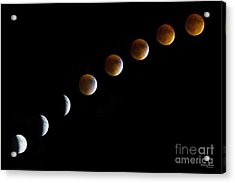 Super Blood Moon Time Lapse Acrylic Print