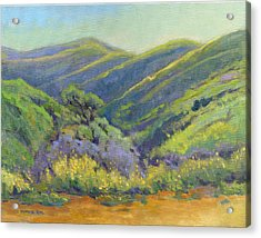 Acrylic Print featuring the painting Super Bloom 2 by Konnie Kim