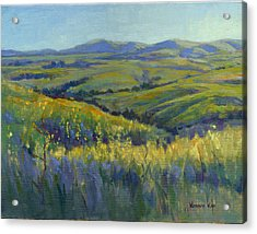 Acrylic Print featuring the painting Super Bloom 3 by Konnie Kim