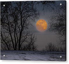 Super Blue Moon Rising 2 Acrylic Print