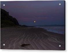 Super Moon At Downhill Beach Acrylic Print