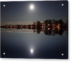 super moon night   Connecticut  Acrylic Print by Mark Ashkenazi