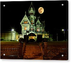 Super Moon Over Carson Mansion Acrylic Print