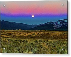 Super Moon Over Taos Acrylic Print