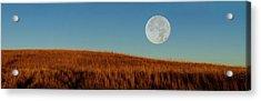 Super Moon Over The Prairie Acrylic Print