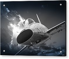 Super Sabre Rolling In On The Target Acrylic Print