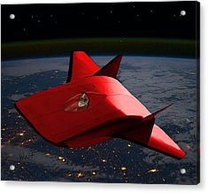 Acrylic Print featuring the digital art Super Sleigh by Walter Chamberlain