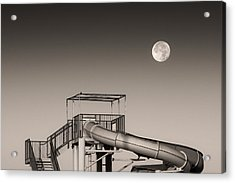 Super Slider Moon Acrylic Print by Don Spenner