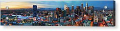 Super Wide View Of Los Angeles At Dusk Acrylic Print