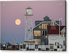 Super Wolf Moon At The Watch Tower Acrylic Print