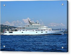 Acrylic Print featuring the photograph Super Yacht by Richard Patmore