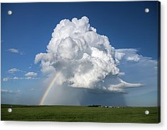 Supercell Rainbow Acrylic Print by James Hammett