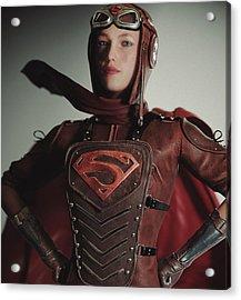 Supergirl Air Force 1944 Acrylic Print by J A Duran